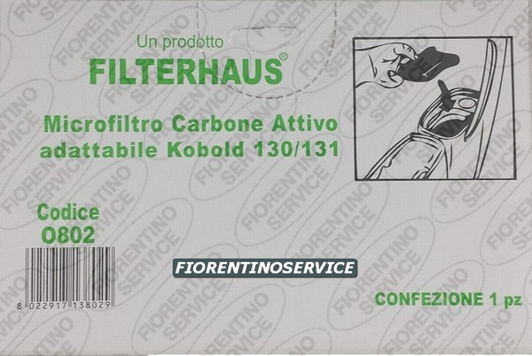 Vorwerk Compatibile Filtro Carbone - Folletto Vk 131