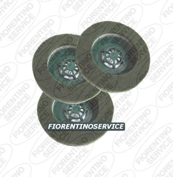 Compatibile Vorwerk - Kit 3 Spazzole Pad - Folletto Pl 512